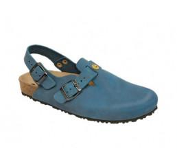 48611-3 WEEGER ESD Clog Arbeitsschuhe blau Nubukleder Größe 35 - 49