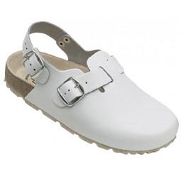 48612-2 WEEGER Clog Arbeitsschuhe weiß Leder Größe 35 - 49