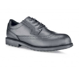 Shoes for Crews 52181 Herren Sicherheitsschuhe Executive Wing-Tip II S/T mit Stahlkappe schwarz S2 Größe 38-47