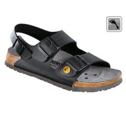 634798 Klein BIRKENSTOCK ESD MILANO Sandale schmale Weite schwarz Größe 35 - 48