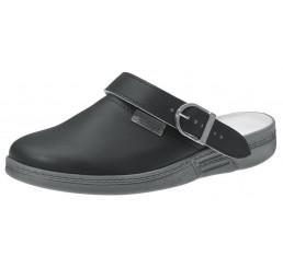 7031 ABEBA Clog Berufsschuhe ohne Schutzkappe schwarz Leder OB Größe 35 - 47