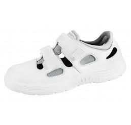 711131 ABEBA X-Light Arbeitsschuhe Sandale weiß Leder 01 Größe 35 - 48