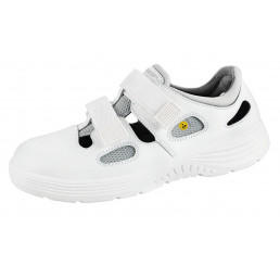 7131031 Abeba X-LIGHT ESD Sandale Arbeitsschuhe weiß Leder S1 Größe  35 - 48