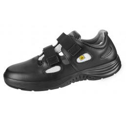 7131136 ABEBA X-Light ESD Arbeitsschuhe Sandale schwarz Leder 01 Größe 35 - 48