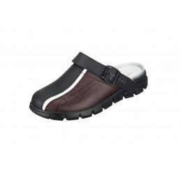 """7315 ABEBA-Clog """"Dynamic"""" ohne Schutzkappe schwarz/braun Leder, Größe  35 - 48"""