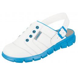 Abeba Dynamic 7367 Küchenclog Küchenschuhe Berufsschuhe weiß blau Größe 35-48