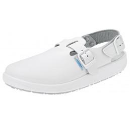 9100 ABEBA Clogs Berufsschuhe Arbeitsschuhe ohne Schutzkappe weiß Leder Größe 36 - 47