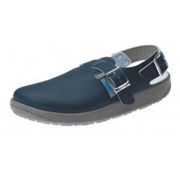 9150 ABEBA Clog Berufsschuhe Arbeitsschuhe ohne Schutzkappe blau Leder Größe 36 - 47
