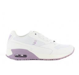 Ela LIC Safety-Jogger Arbeitsschuhe Pflege Praxis Schwestern ohne Schutzkappe weiß-violett Größe 36-42
